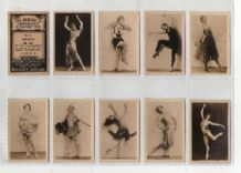 Tobacco cigarette cards Dancers 1929 set of 26 photographic card